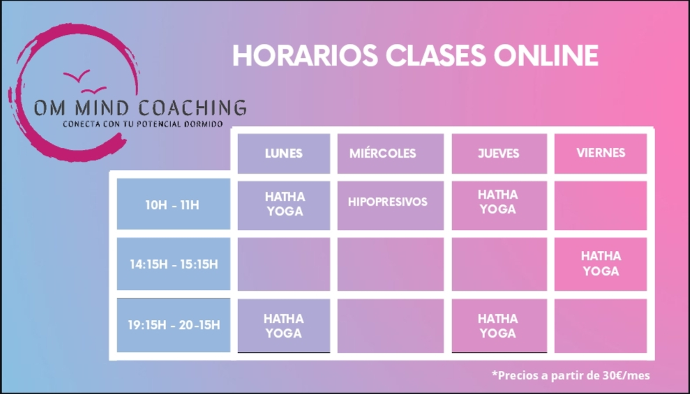 Horarios Om mind coaching